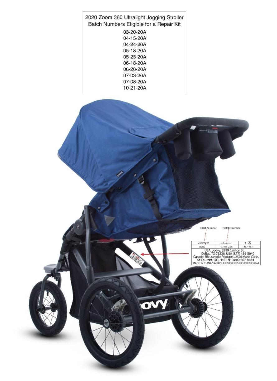 Recalled Jovvy Zoom 360 Ultralight stroller