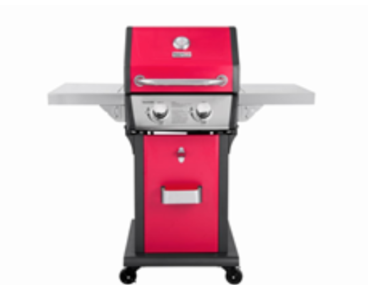 Front View of Recalled Patio 2-Burner Gas Grill in Red