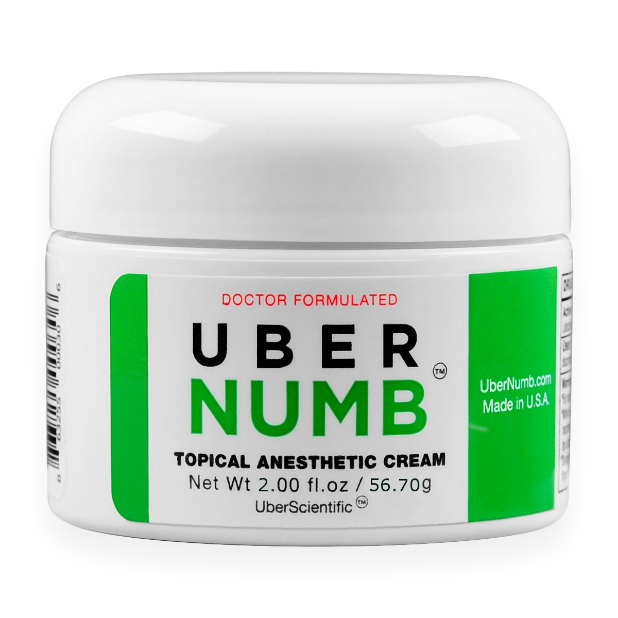 Recalled Uber Numb topical anesthetic cream
