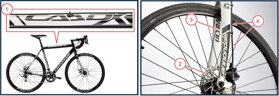 Recalled Cannondale CAADX cyclocross bicycle