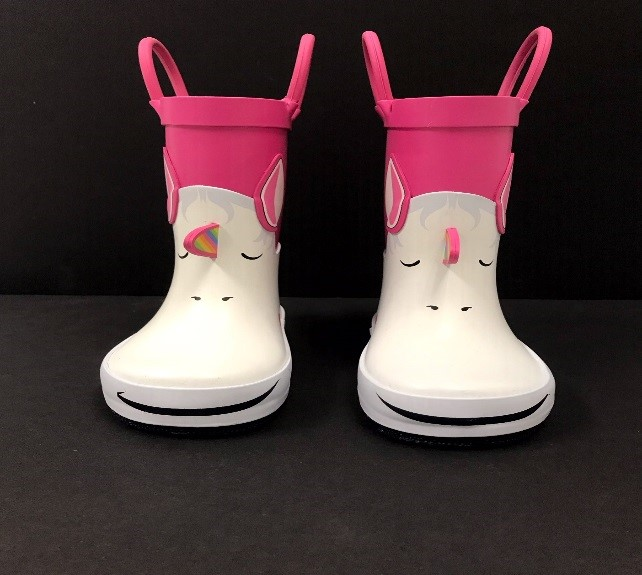 """Photo of the front view of the recalled Cat & Jack """"Lilia"""" Rain Boots"""