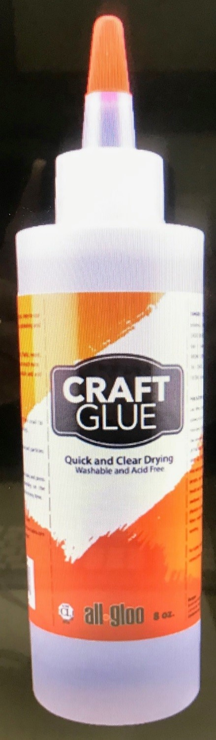 Recalled 8-ounce bottle of Craft Glue also available in 2- and 4-ounce bottles.