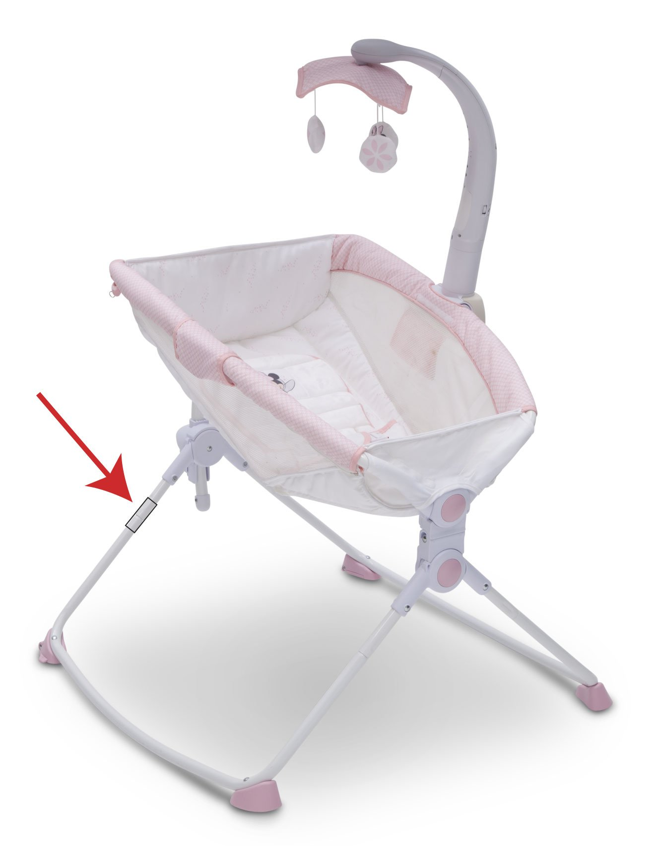 Delta Incline Sleeper with Adjustable Feeding Position for Newborns (This photo is a representative image. Your Incline Sleeper may look different.)
