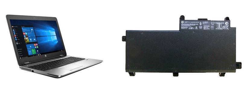 Representative HP computer and battery