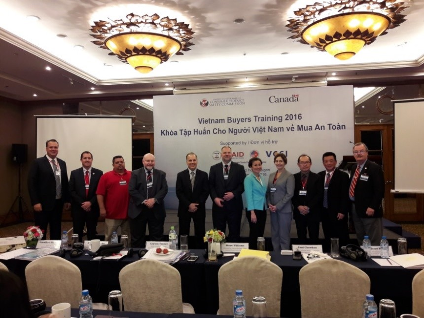 Participants in First Vietnam Buyers Training: Officials from the CPSC and Health Canada and representatives from AMCHAM Ho Chi Minh City and the industry