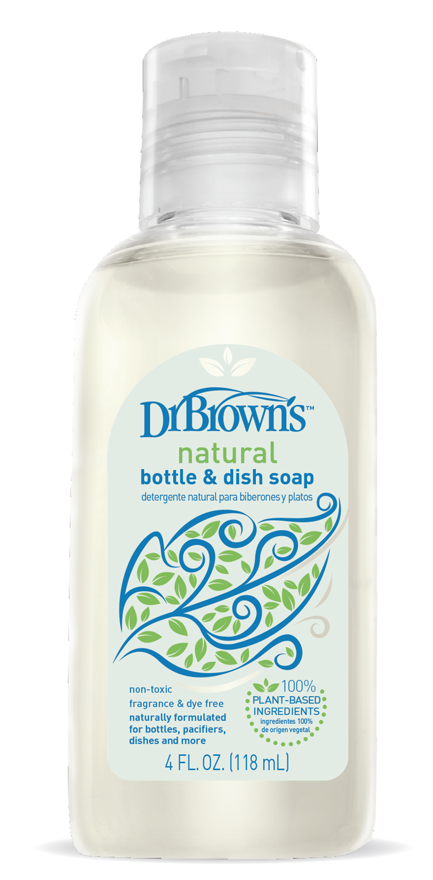 Handi-Craft Dr. Brown's natural bottle & dish soap, 4-ounce