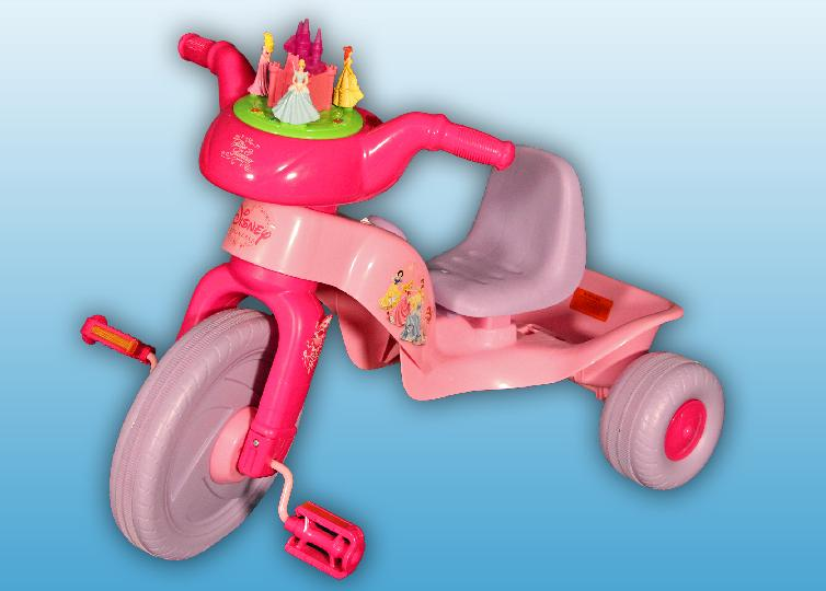 Recalled Disney Racing Trike with Castle Display on Handlebar