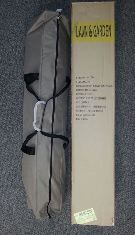Hammock in case with package