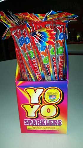 Jake's Fireworks Yo Yo Sparklers