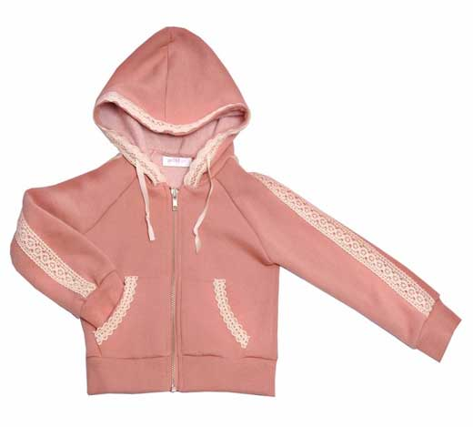Recalled Girls' blush hoodie jacket