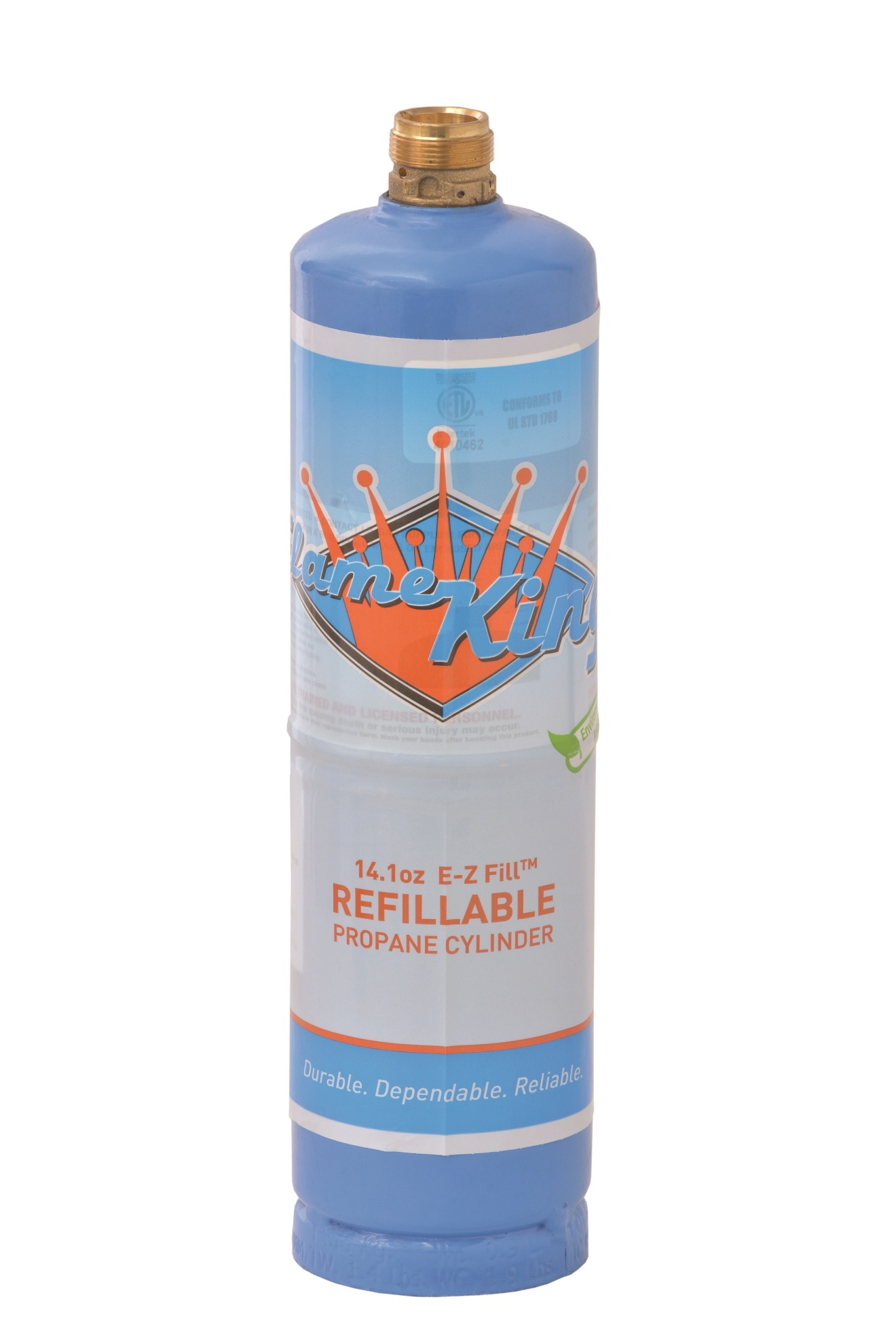 Flame King 14.1 oz. refillable propane cylinder