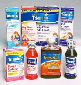 Triaminic Syrups and Theraflu Warming Liquids