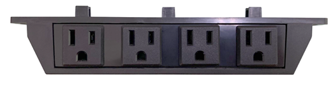 View of outlets in back of control box