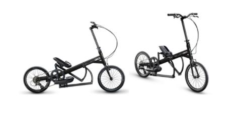 Recalled ElliptiGO Arc bicycle (side and front views)