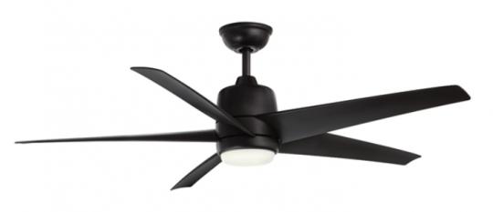Recalled Hampton Bay 54 in. Mara Indoor/Outdoor ceiling fan in matte black finish