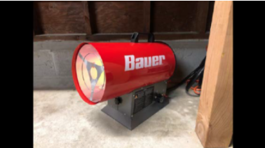 Recalled Bauer Forced Air Propane Portable Heaters