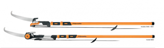 Recalled Fiskars 16 Foot Chain Drive Extendable Pole Saw & Pruner and 16 Foot Power Lever Extendable Pole Saw & Pruner