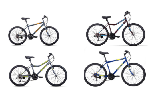 Recalled Ozone 500 Density Bicycles models 164539, 162803, 164537 and 162805 (shown from top left to bottom right)
