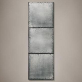 Recalled RH Industrial Three-Panel Mirror