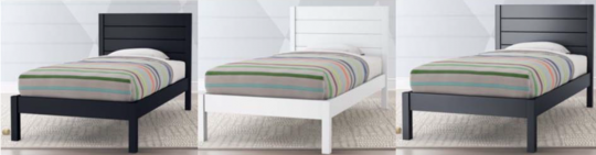 Recalled Twin Size Parke Bed