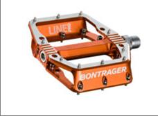 Bontrager Line Pro flat bicycle pedal (orange)