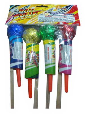 Photo 1: Recalled LB6103 ball bullet rocket fireworks
