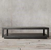 The recalled RH La Salle Metal-Wrapped Coffee Tables.