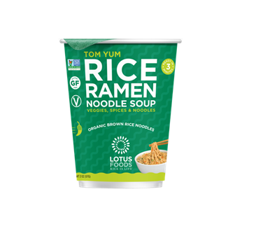 Recalled Lotus Foods tom yum rice noodle soup cup