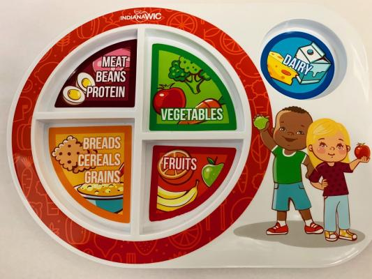 Front of WIC Nutrition Plate