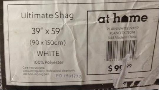 Ultimate Shag Rug Label