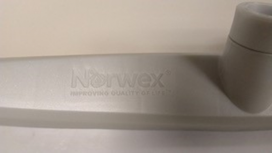 """Recalled rubber brooms have """"Norwex"""" printed on the brush head"""