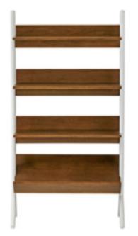 Recalled Danish Walnut and White Tall Bookcase (SKU 325943)