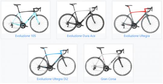 2018 Masi Evoluzione (all models) and Gran Corsa model