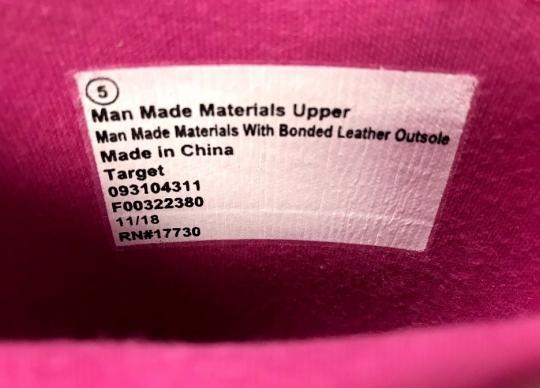 "Photo of the label inside Cat & Jack ""Lilia"" Rain Boots"