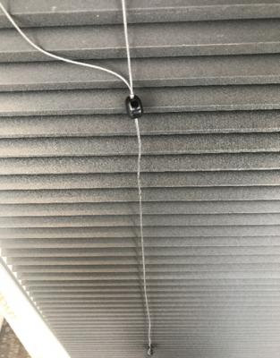 Recalled Levolor cellular shade permanent cord connector