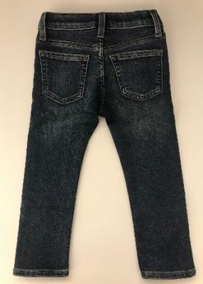 Back of recalled Crewcuts boy's denim pants