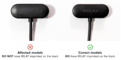 """Recalled Relay Charging Cables Do Not Have """"RELAY"""" Imprinted on the Back"""