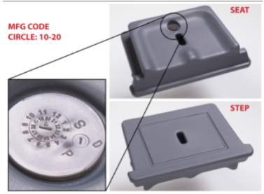 Manufacture code 10-2020 can be found on the removable seat/step