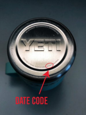 Date code location on the base