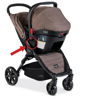 B-Agile 4 stroller (in travel system mode)