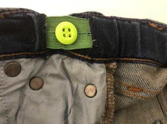 Inner waistband of the recalled Crewcuts boy's denim pants