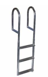 Recalled 3-Step Wide Step Dock Ladder