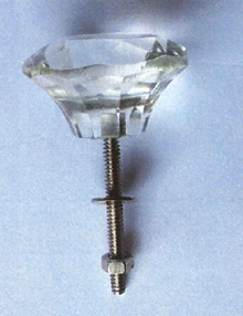 Recalled Glass Style drawer knob, sold under the Cynthia Rowley brand.