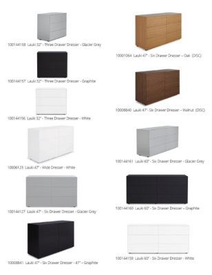 Recalled Lauki dressers