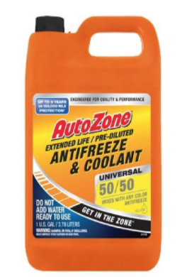 Recalled AUTOZONE AMAM 50/50 Antifreeze
