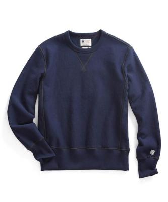 Recalled men's Todd Snyder + Champion sweatshirt in Mast Blue