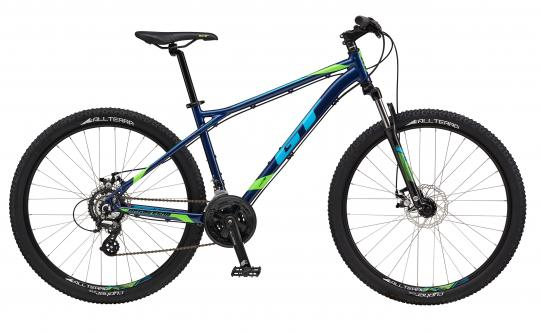 """2017 Aggressor Comp, 27.5"""" wheel, blue GT Mountain bicycle"""