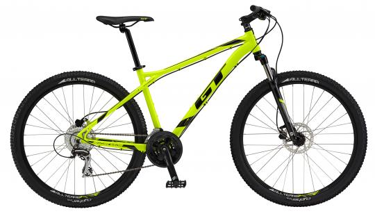 "Aggressor Expert, 27.5"" wheel, neon yellow GT Mountain bicycle"