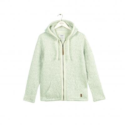 Yarmouth Textured Zip-up Sweater in Ivory(918041)