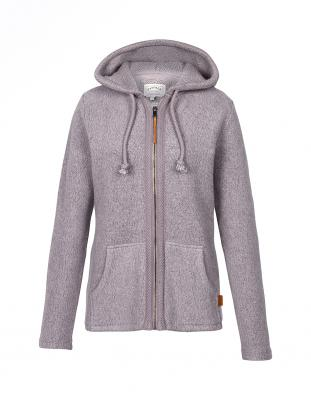 Yarmouth Textured Zip Through Sweater in Lilac Ice (918041)